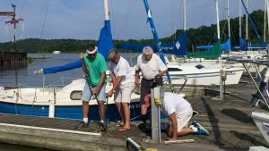 "Work on building a ""Social Dock"" started Aug. 6, 2016"